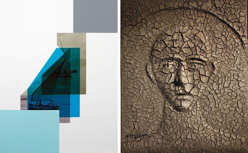 Hazem Harb - Tebariya #02, 2017, Sliman Mansour - The Martyr, 1993