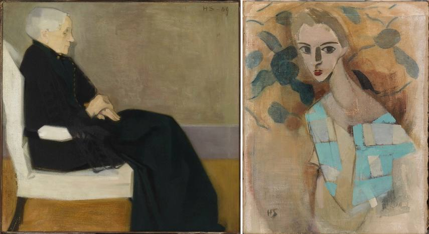 Left Helene Schjerfbeck - My Mother Right Helene Schjerfbeck - Girl from