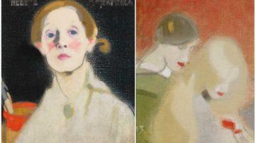 Left Helene Schjerfbeck - Self-Portrait Right Left Helene Schjerfbeck - The Family Heirloom