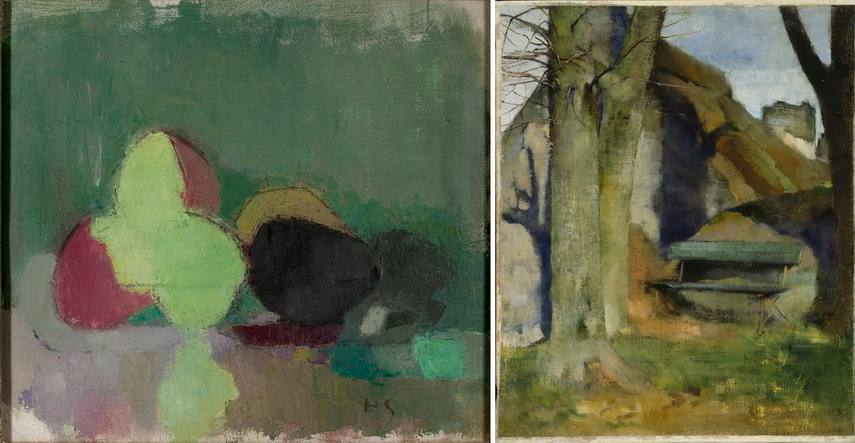 Left Helene Schjerfbeck - Still Life with Blackening Apples Right Helene Schjerfbeck - Shadow on the wall