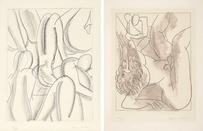 Henri Matisse - Circé, from Ulysses, 1935, Henri Matisse - Polyphème, for Ulysses by James Joyce, 1934