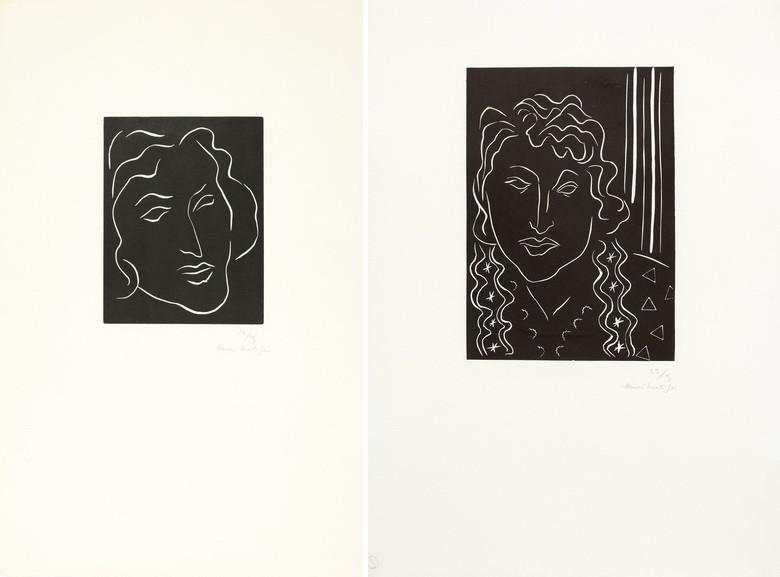 Left Henri Matisse - Florentine Right Henri Matisse - La belle Tahitienne
