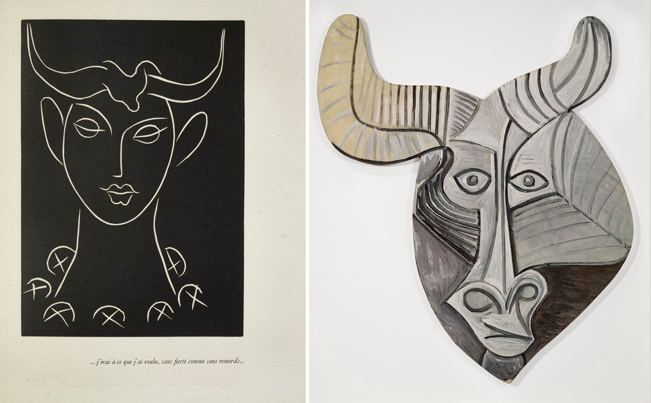 Left Henri Matisse - Song of Minos Right Pablo Picasso - Mask of Minotaur