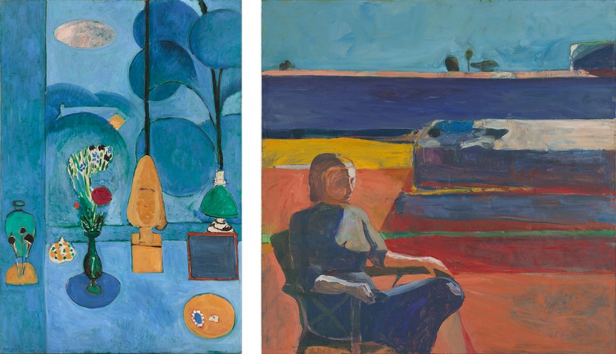 Left Henri Matisse - The Blue Window, via sfmoma org Right Richard Diebenkorn - Woman on a Porch, sfmoma org
