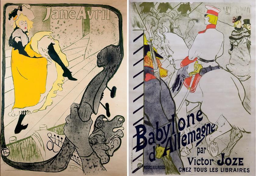 Jane Avril and Babylone d Allemagne by Henri de Toulouse-Lautrec