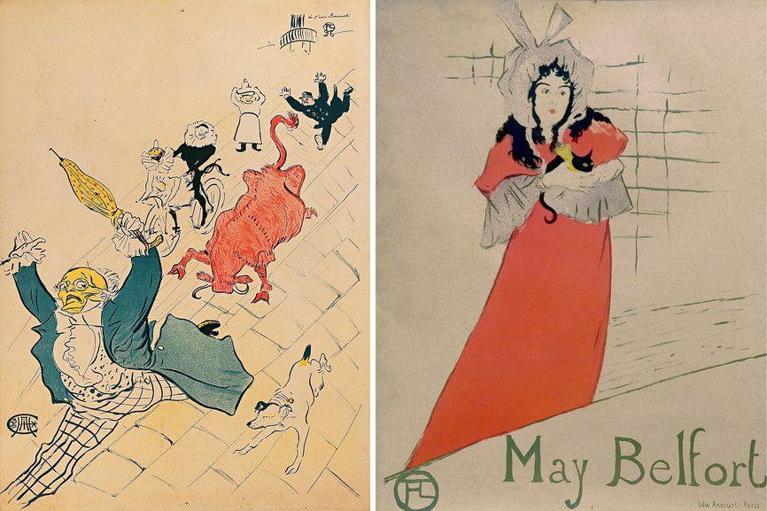 La vache enrage and May Belfort by Henri de Toulouse-Lautrec