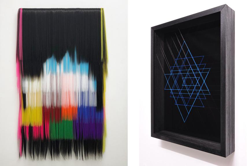 Left Hiva Alizadeh - Untitled (shadows in musque Series)#1, 2018 Right Paolo Cavinato - Iridescence #2, 2018