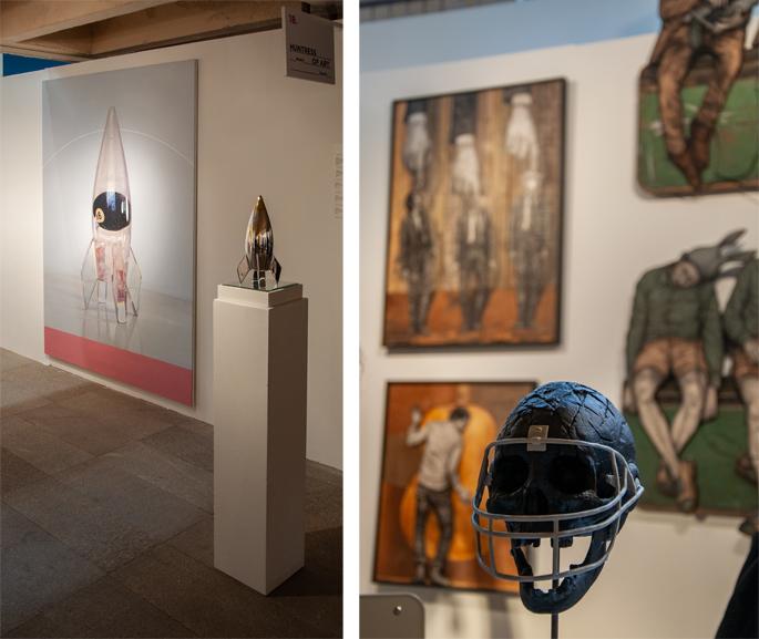 Left Huntress of Art Right Joel Knafo Urvanity Art 2020 Madrid