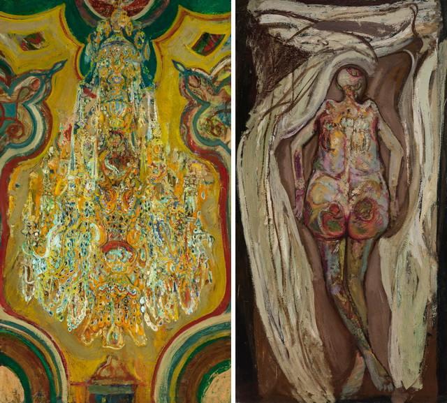 Left Hyman Bloom – Chandelier Right Left Hyman Bloom – Female Corpse