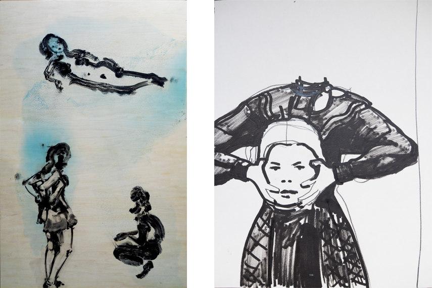 Left- Ilona Szalay - Empress; Right- Ilona Szalay - Headless