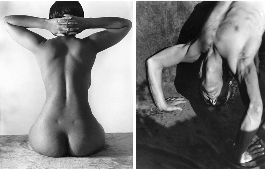 Left: Imogen Cunningham - Nude, 1939 / Right: Imogen Cunningham - On Your Head, 1929