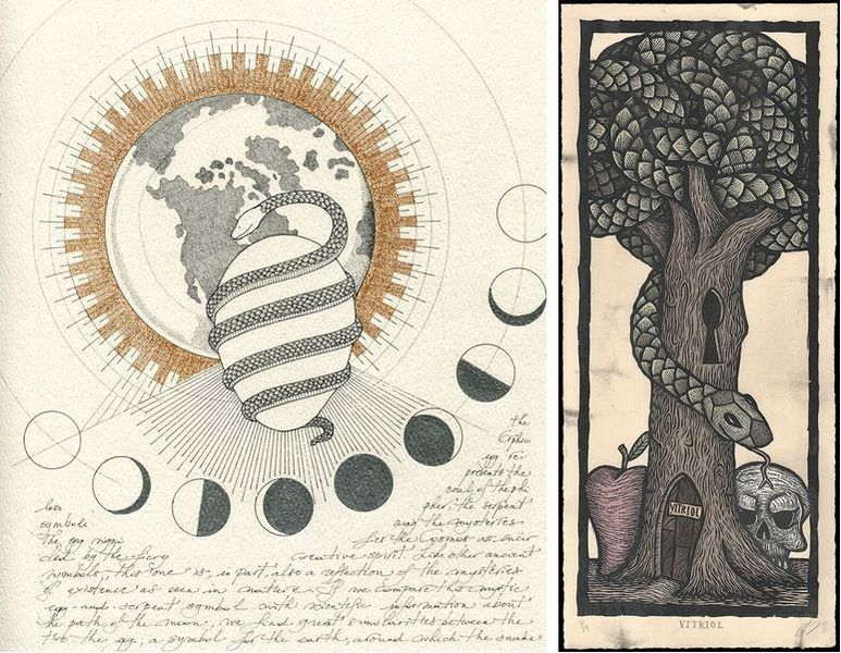 these prints combine love science surrealism and symbolism
