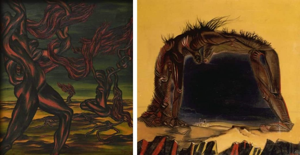 Inji Efflatoun - Untitled, 1942, Roland Penrose - Egypt, 1939