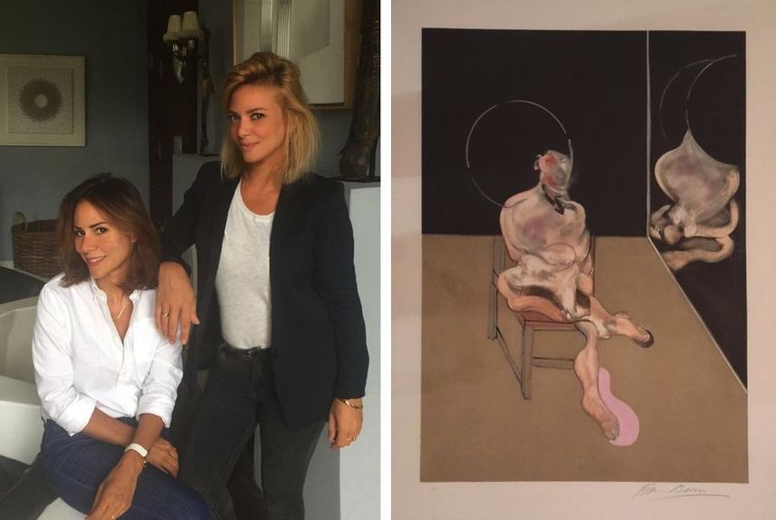 Isabelle Keit Parinaud, CEO of the fair and Adeline Keit, General Coordinator / Francis Bacon – Figure assise, 1983