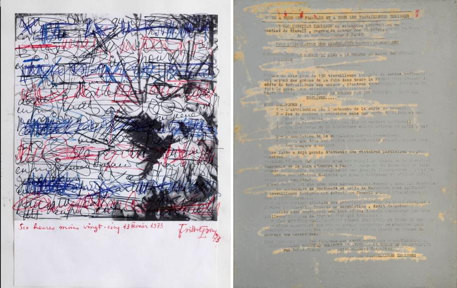 Left Isidore Isou - Twenty-Five to Six Right Gil J. Wolman - Appel A Tous Les Francais