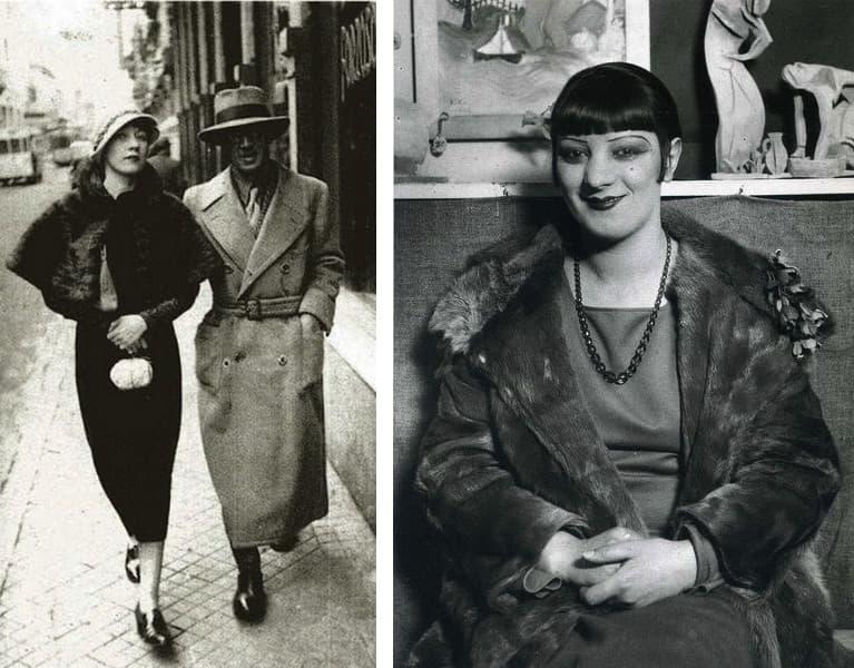 Iwata Nakayama, Foujita and Kiki de Montparnasse, Paris, 1926, André Kertész - Kiki de Montparnasse, 1927
