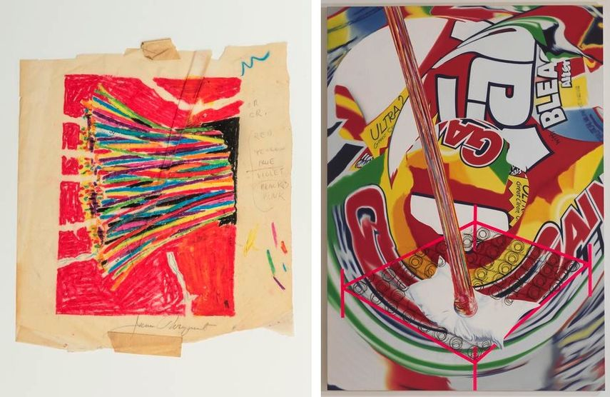 James Rosenquist - Study for Busy Signal, ca. 1970, The Meteor Hits the Swimmer's Pillow, 1997
