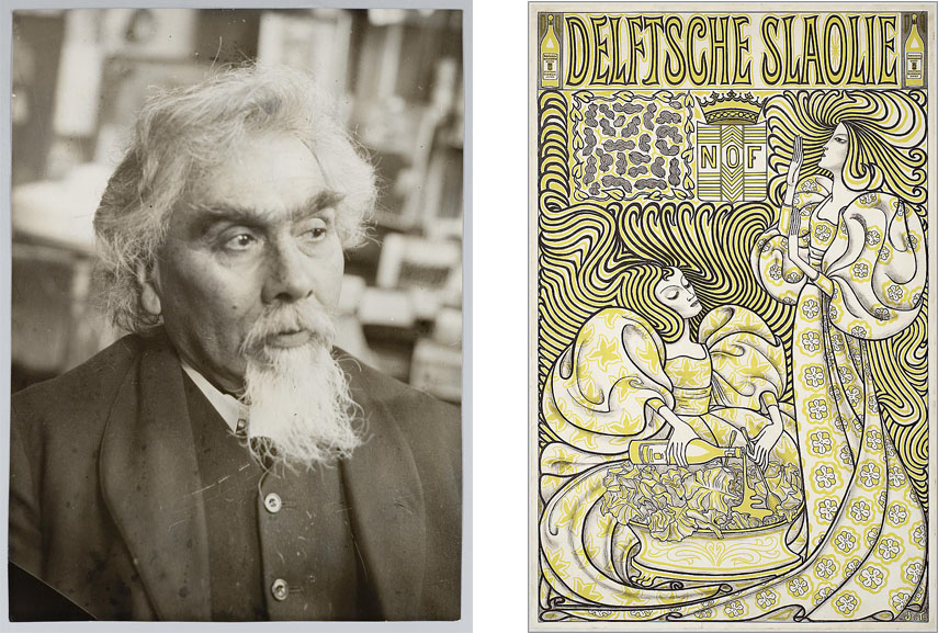 Left: Jan Toorop / Right: Jan Toorop - Delftsche Slaolie