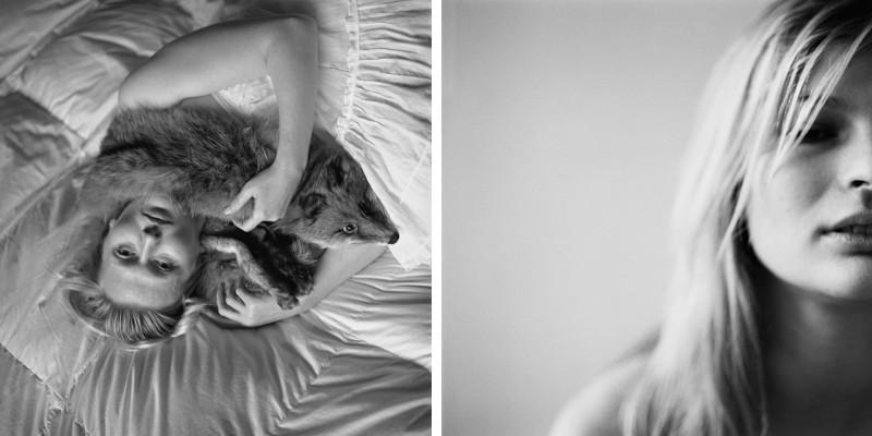Left Jana Ilkova - Darina with Fox II, 2008, Right Jana Ilkova - Untitled #1