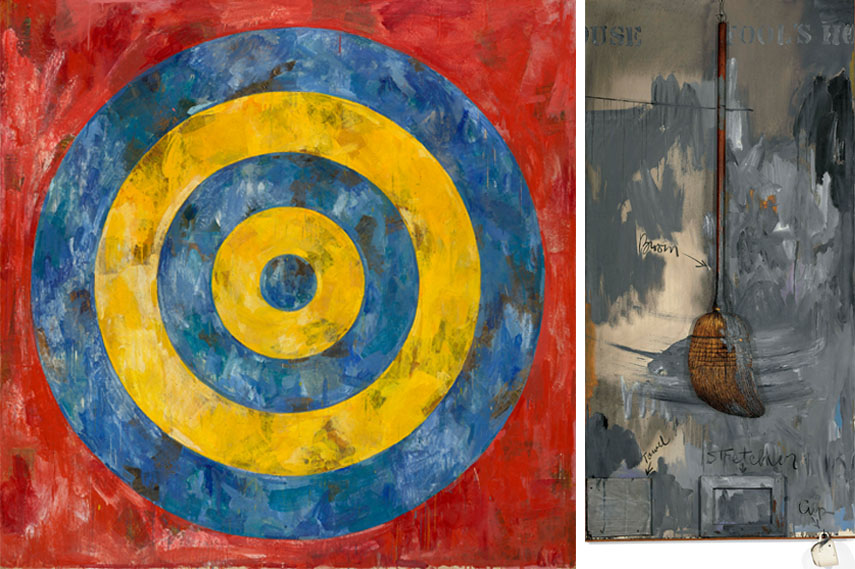 Left Jasper Johns - Target, 1961 Right Jasper Johns - Fool's House, 1961–62