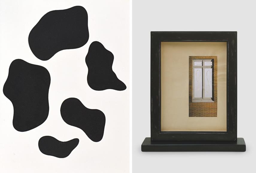 Left Jean Arp - En souvenir de 1929, 1955 Right Marcel Duchamp - La Bagarre d'Austerlitz, 1936