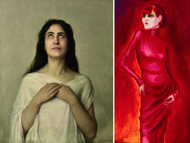 Left Jean Benner - L'Exstase Right Otto Dix - Portrait of the dancer Anita Berber