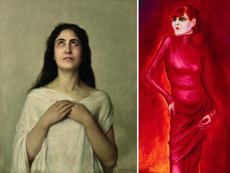 Left Jean Benner - L'Exstase Right Otto Dix - Portrait of the dancer Anita Berber