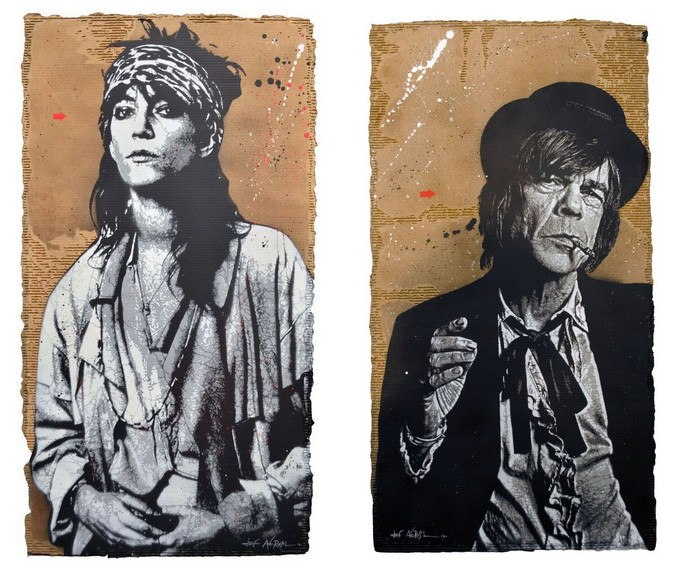 Left Jef Aerosol - Break it up (Patti Smith) Right Jef Aerosol - Too Much Too Soon (Dave Johansen)