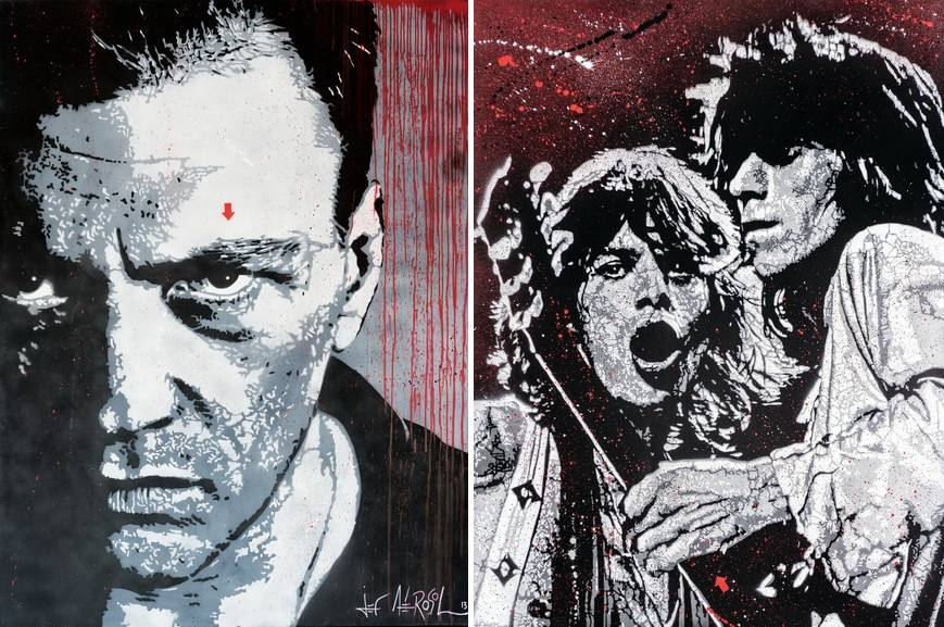 Left Jef Aerosol - Daniel Darc Right Jef Aerosol - Jagger Richards