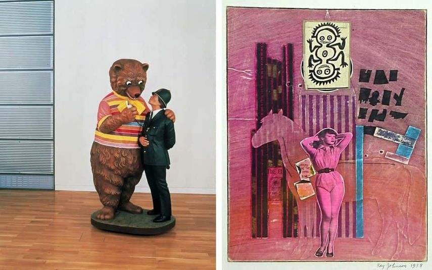 Jeff Koons, Bear and Policeman, 1988, Ray Johnson, Movie Star with Horse