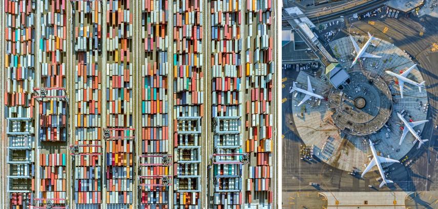 Jeffrey Milstein - Containers Port #43, 2016 / Jeffrey Milstein - Newark #8, Terminal B, 2016
