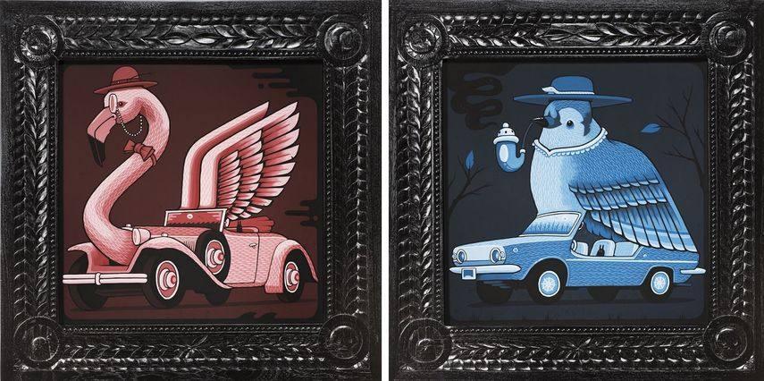 Ruxton Flamingo, 2017, 1970 Fiat Bluebird, 2017