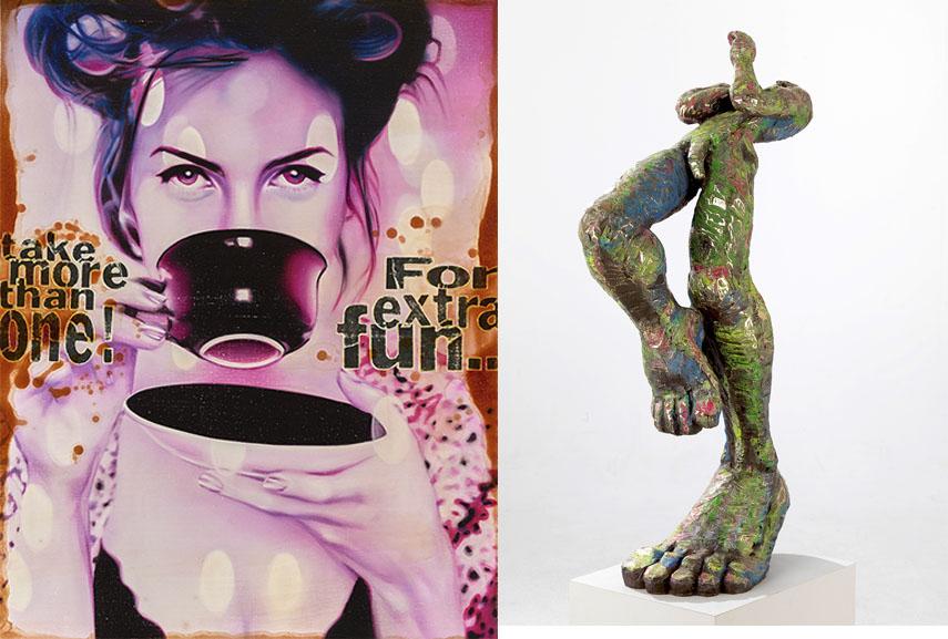 Left künstler artist dã¶ring jã¶rg - Extra fun, 2016 Right Jörg W. Schirmer - The Winner, 2015 ausstellungen