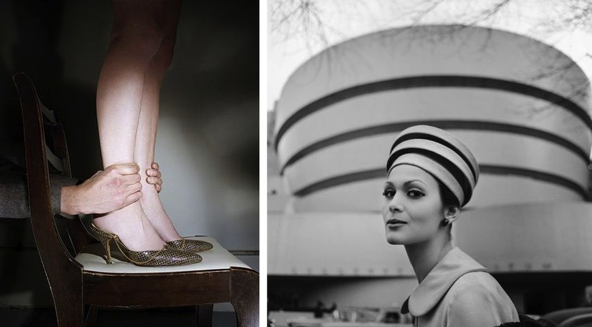 work by Jo Ann Callis - Hands on Ankles, Tony Vaccaro - Guggenheim Hat, 1960