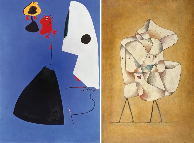 Left Joan Miro – Trois Femmes Right Paul Kee - Siblings