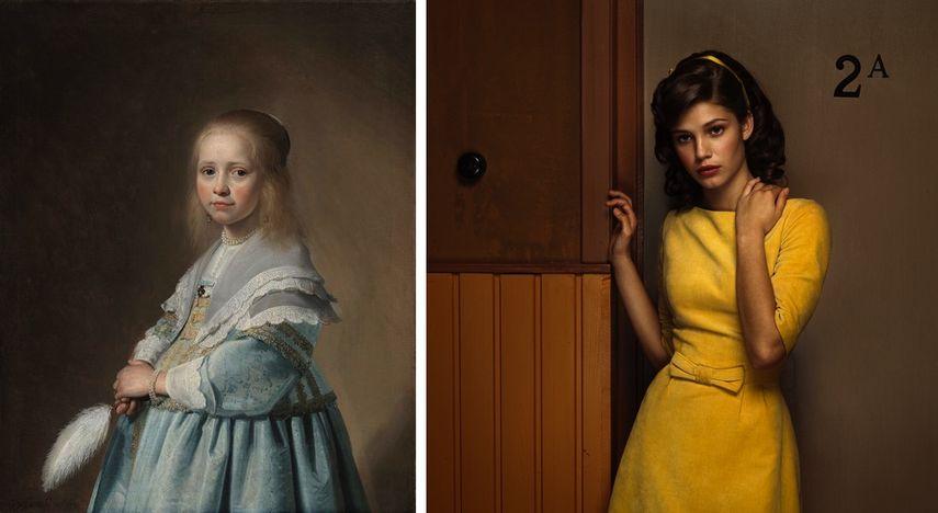 Johannes Cornelisz Verspronck, Portrait of a Girl Dressed in Blue, 1641, Erwin Olaf, Hope – Portrait 5, 2005