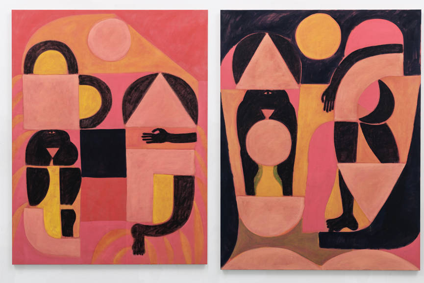 Left John Finneran - A Figure Searching Day and Night Right John Finneran - Dreamer, Dreaming, Day and Night, 2016