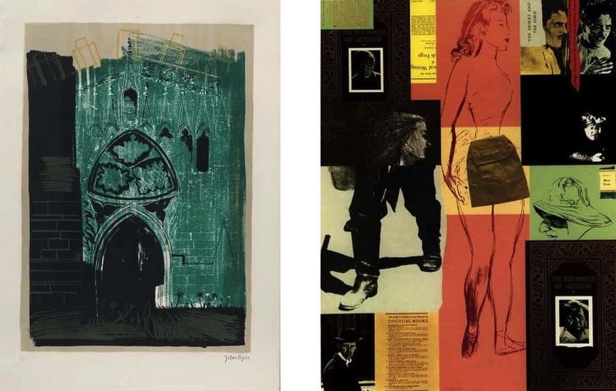 John Piper - Gaddesby, Leicestershire- medieval stonework, 1964, R.B. Kitaj - The Red Dancer of Moscow, 1975