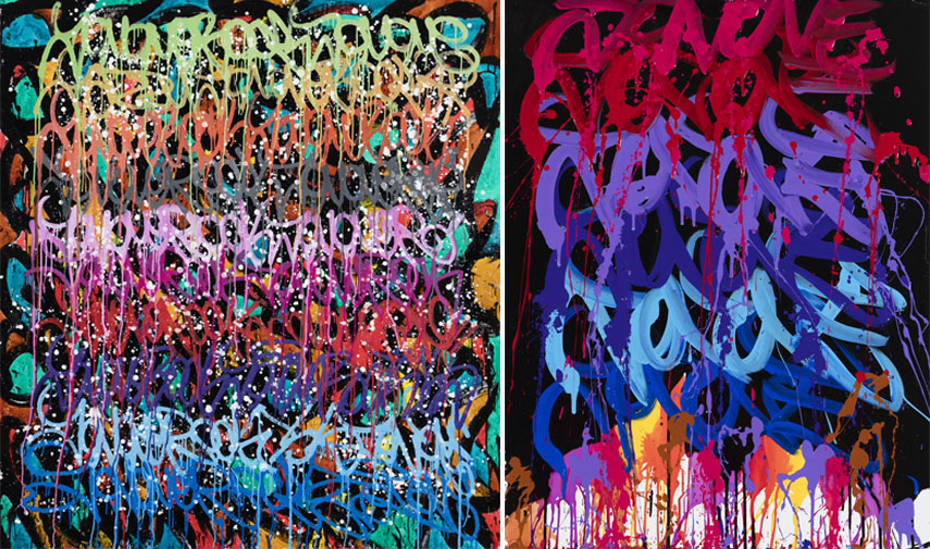 JonOne show - see new works by JonOne here