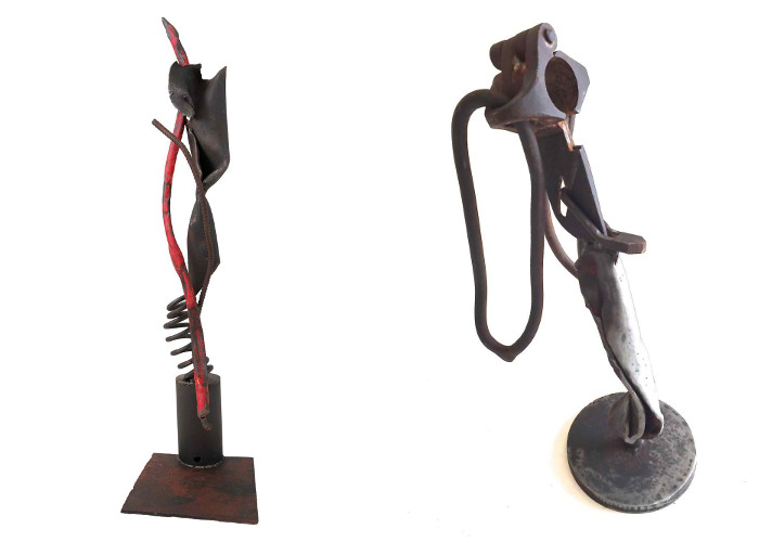Left Jonas Stirner - Red Staff, 2015, Right Jonas Stirner - Untitled, 2015