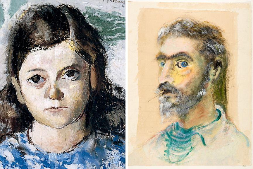 Left Jose Morais - Head of a Girl, 1943 Right Alcides da Rocha Miranda - Head, 1940
