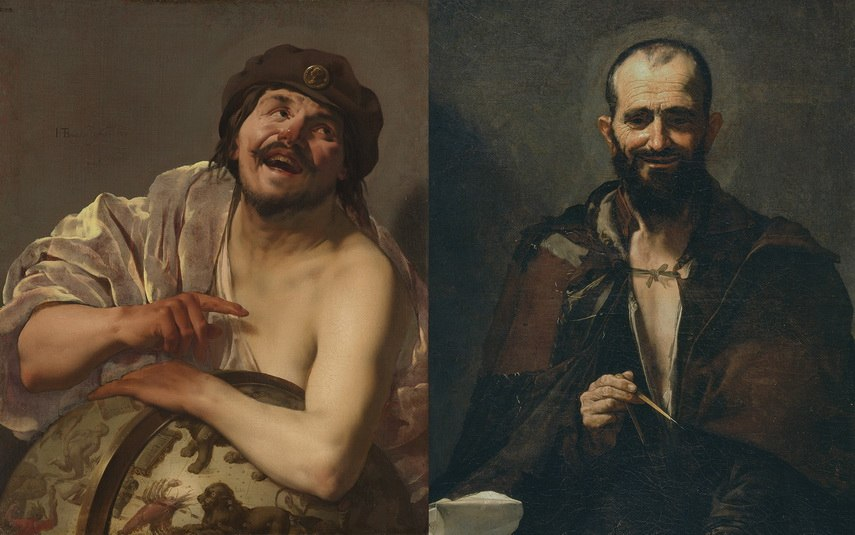Left Jose de Ribera – Democritus Right Hendrick Ter Brugghen – Democritus