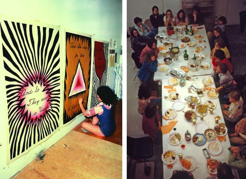 The Dinner Party - Judy Chicago Designing the Entry Banners, 1978, Thursday Night Potluck, 1978