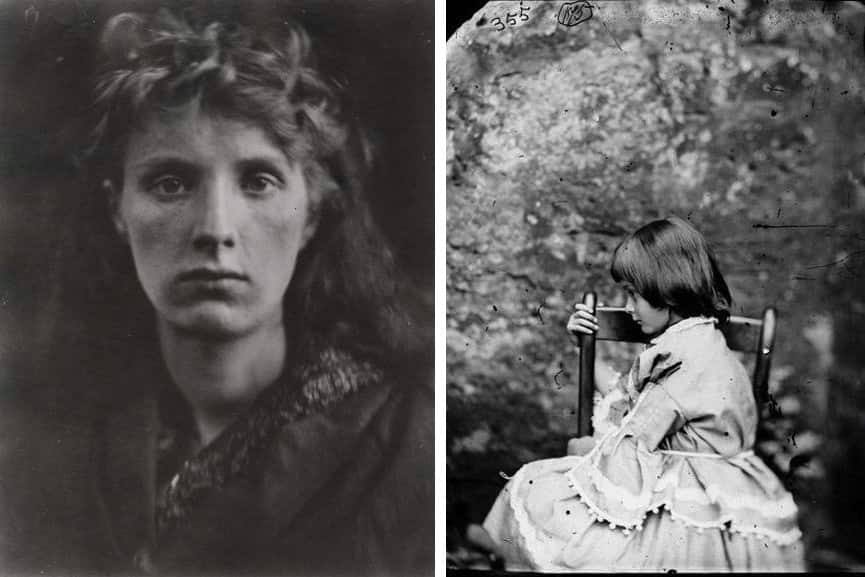 Julia Margaret Cameron - The Mountain Nymps, Sweet Liberty, 1866, Lewis Carroll - Alice Liddel, 1858; the world of fine art photography of the 19th c