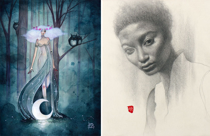 Left June Leeloo - Callisto Right Mandy Tsung - Rippled With Wavering Air