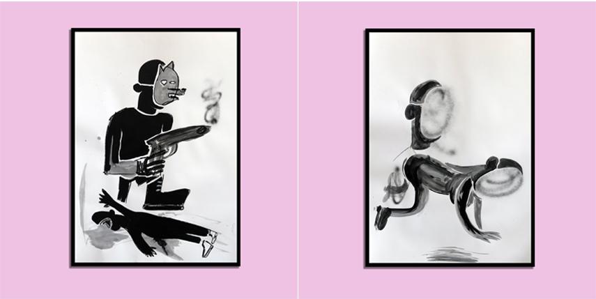 #justinperson #art #black #painting #contemporaryart #streetart instagram