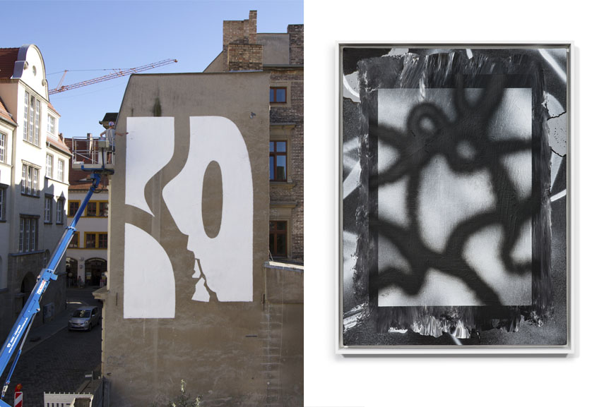 Left KID CASH - 1 Hour Fame, Halle (Saale), 2016 Right New York. 60 x 80 cm