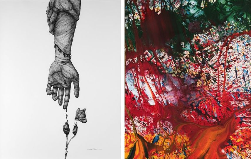 Katherine Filice - Heal, Shozo Shimamoto - Splash of Passion - works at 2018 edition of the fair