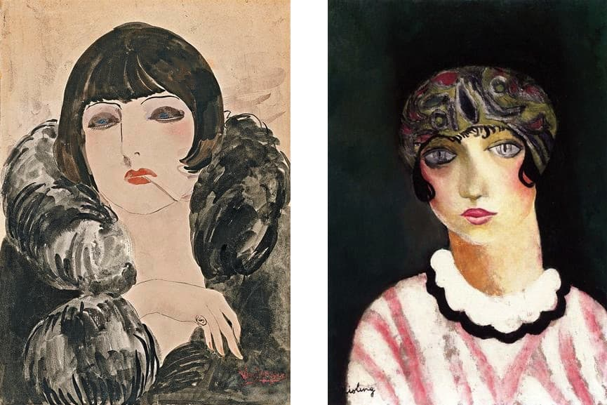 Kees van Dongen - Portrait of a woman with a cigarette (Kiki de Montparnasse), ca. 1922, Moise Kisling - Kiki de Montparnasse, 1924