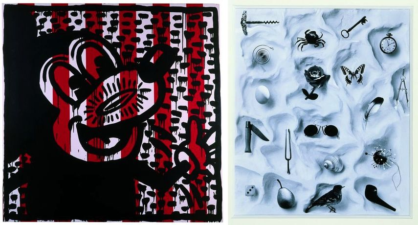Keith Haring – Untitled, 1981, Robert Doisneau - Untitled (Composition with objects), 1964